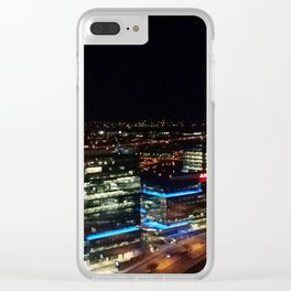 Nighttime Skyline Clear iPhone Case