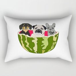 Watermelon Dogs Rectangular Pillow