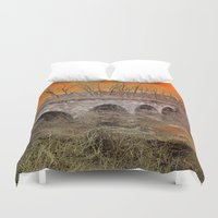 virginia Duvet Covers featuring Virginia Bridge by Andooga Design