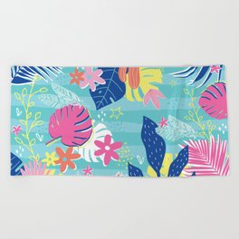Tropical Vibes Beach Towel
