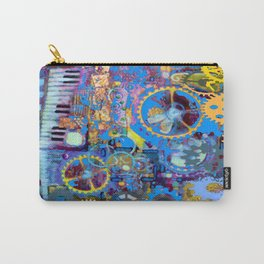 SURREAL BLUE STEAMPUNK ELECTRONIC PIANO ART Carry-All Pouch