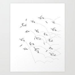 Crazy Rabbits Art Print