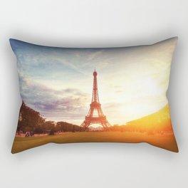 Sunset Eiffel Tower Rectangular Pillow