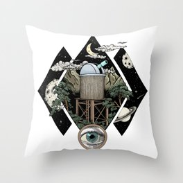 Through the looking glass and what i found there Throw Pillow