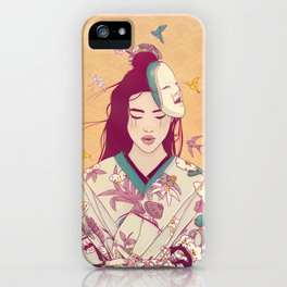 Origami Lady iPhone Case