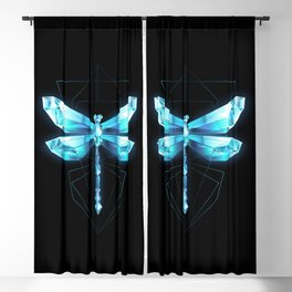 Ice Dragonfly Blackout Curtain