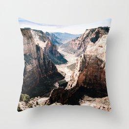 Zion Canyon National Park Throw Pillow