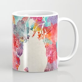 Mobile map Alabama painting 2 Coffee Mug