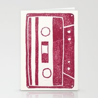 cassette Stationery Cards featuring Cassette by Brita A