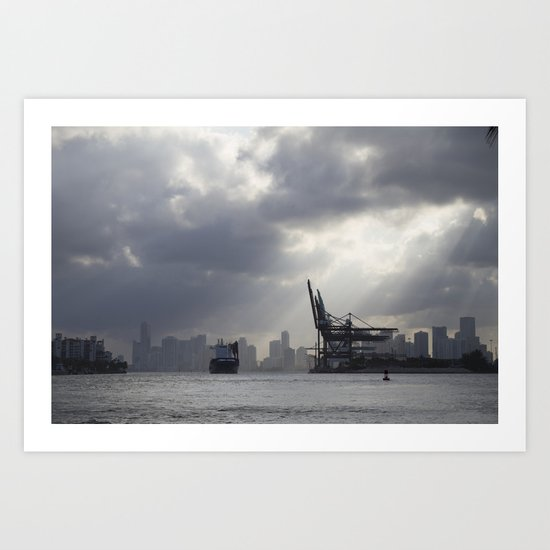 Miami Port Art Print