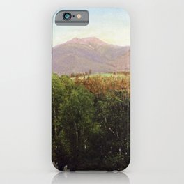 Mount Lafayette New Hampshire 1871 By David Johnson | Reproduction | Romanticism Landscape Painter iPhone Case