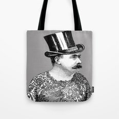 Tattooed Victorian Man Tote Bag