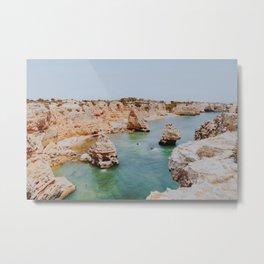 summer coast vi / algarve, portugal Metal Print