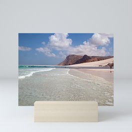 Sand Beach Dune Cliff Seashore Landscape Mini Art Print