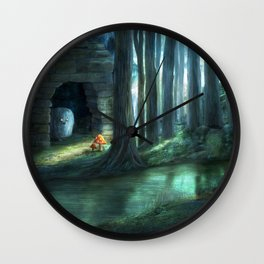 The Toadstools Wall Clock