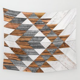 Urban Tribal Pattern 12 - Aztec - Wood Wall Tapestry