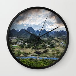 Karst Pinnacle landscape of Guilin Wall Clock