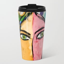 Portrait of a mystique girl Travel Mug