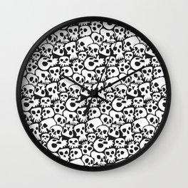 Deathly Skull Pattern Wall Clock