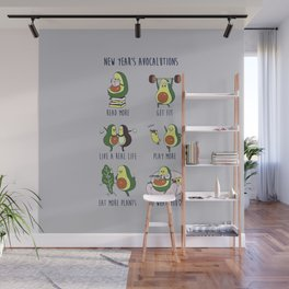New Year's Resolutions with Avocado Wall Mural