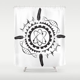 Native Stem Mandala Shower Curtain