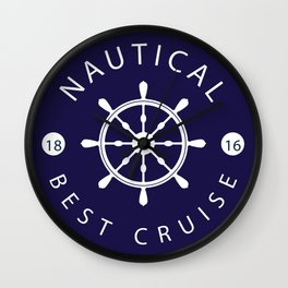 ship rudder Wall Clock