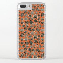 Cobbled Street Orange Clear iPhone Case