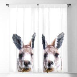 Kangaroo Portrait Blackout Curtain