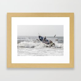 Get a leg up Framed Art Print