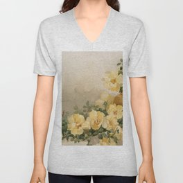 Yellow Flowers - Date Unknown Unisex V-Neck