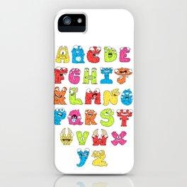 Monster Alphabet iPhone Case