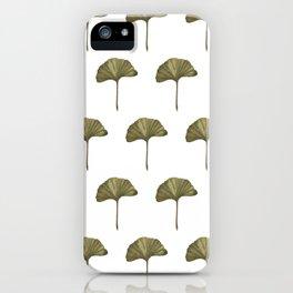 Green Ginko Leaf - Simple Minimalist Nature iPhone Case