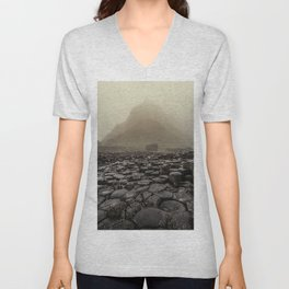 The land of mountains and stones Unisex V-Neck