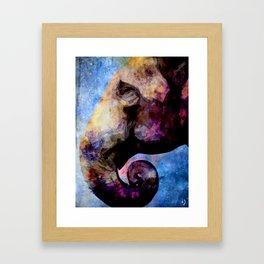 Elephant in colors Framed Art Print