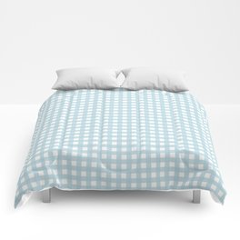 Farmhouse Gingham in Dusty Blue Comforters