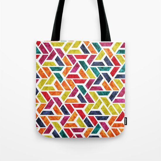 Seamless Colorful Geometric Pattern XII Tote Bag
