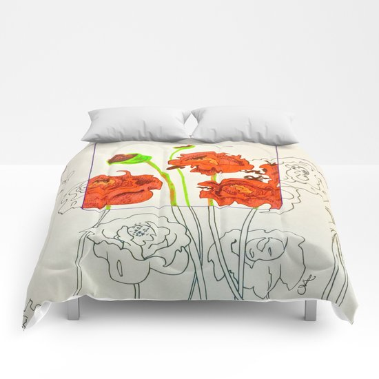 Perspective on Flowers Comforters