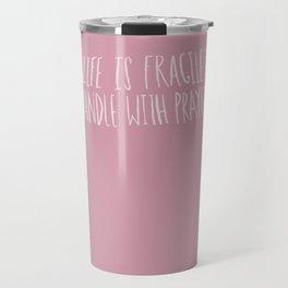 Handle with Prayer x Rose Travel Mug
