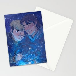 Snow Like Falling Stars Stationery Cards