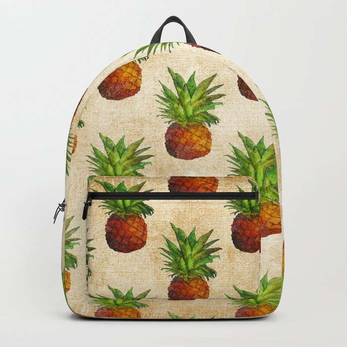 Retro Vintage Aloha Fruit  Pineapple  Pattern on #Society6 Backpack
