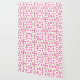 Little Pink Tulip Pattern Wallpaper