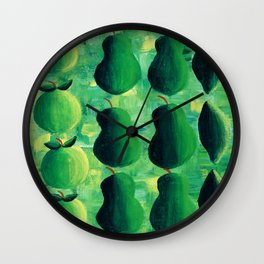 Apples Pears and Limes Wall Clock