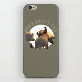 Pigs Don't Fly iPhone Skin
