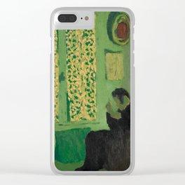 Edouard Vuillard - The Green Interior, 1891 Clear iPhone Case