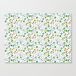 Floral Pattern IV simple draw Canvas Print