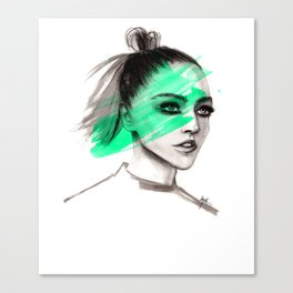 Sasha in mochito vibes Canvas Print