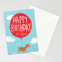 Birthday Balloon Stationery Cards