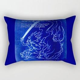 Warrior Girl 5 With Heavenly Host Rectangular Pillow
