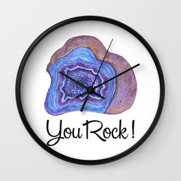 Geode - You Rock! Wall Clock