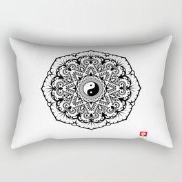 Taoist Lotus Mandala Rectangular Pillow